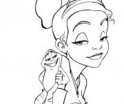 Coloriage La princesse et la grenouille