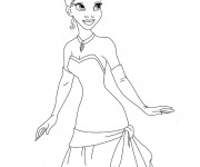 Coloriage La princesse sourit