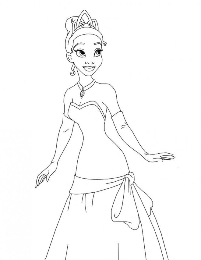 Coloriage et dessins gratuits La princesse sourit à imprimer