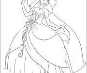 Coloriage La princesse Tiana disney