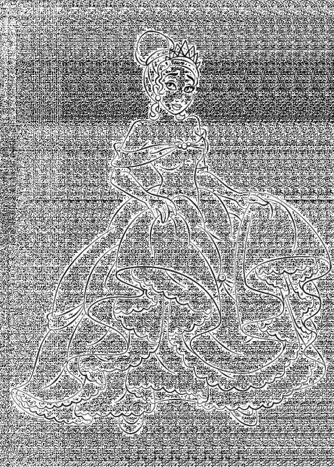 Coloriage et dessins gratuits La princesse Tiana en robe de soirée à imprimer