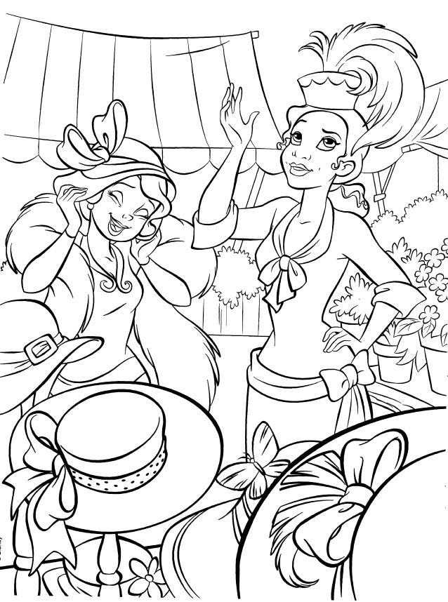 Coloriage et dessins gratuits La princesse Tiana fait du shopping à imprimer