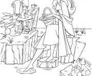 Coloriage et dessins gratuit La princesse Tiana parle avec les animaux à imprimer