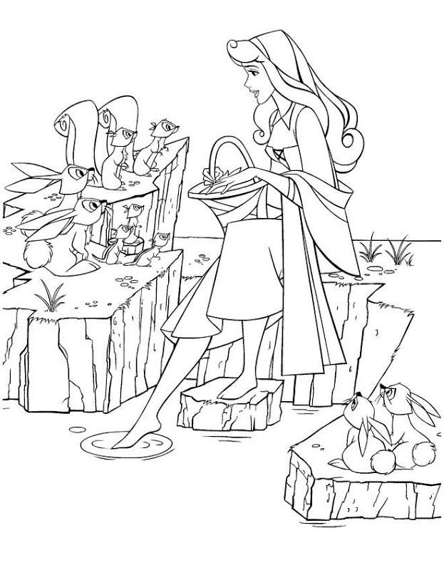 Coloriage et dessins gratuits La princesse Tiana parle avec les animaux à imprimer