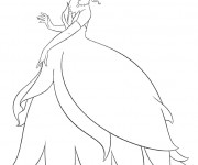 Coloriage La ravissante princesse Tiana