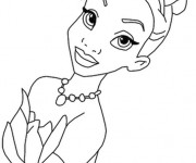 Coloriage La visage princesse Tiana