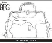 Coloriage et dessins gratuit Le bon gros géant baggage à imprimer