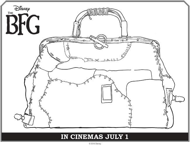Coloriage et dessins gratuits Le bon gros géant baggage à imprimer