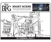 Coloriage et dessins gratuit Le bon gros géant dans la ville à imprimer