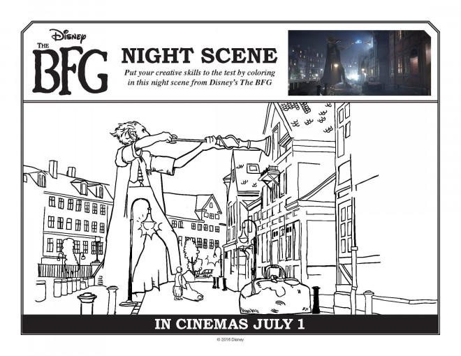 Coloriage et dessins gratuits Le bon gros géant dans la ville à imprimer