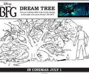 Coloriage et dessins gratuit Le bon gros géant devant l'arbre à imprimer