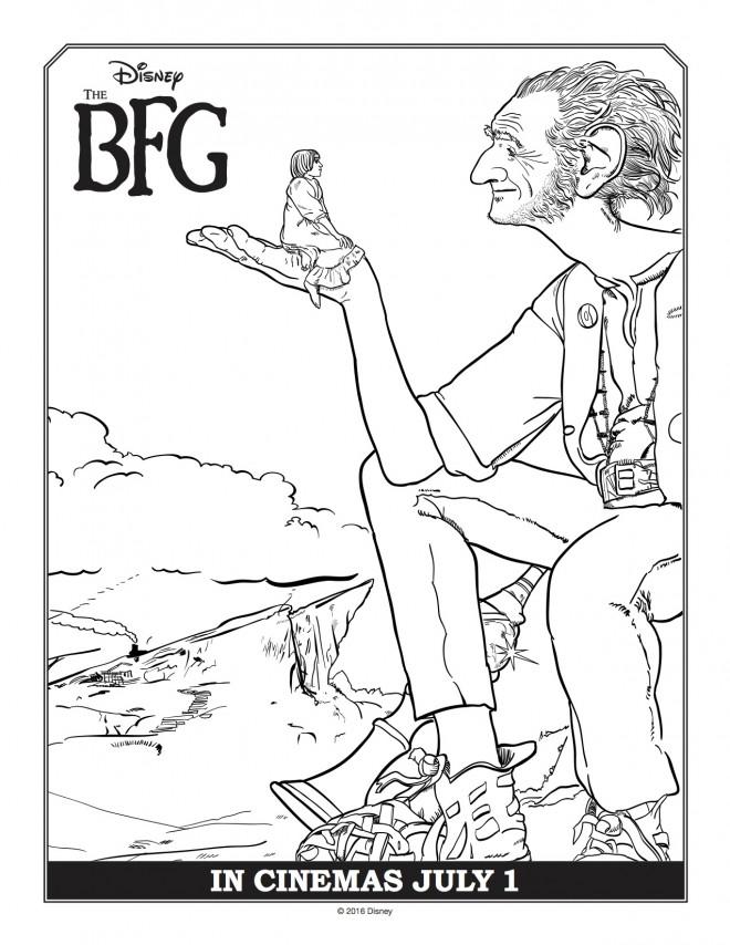 Coloriage et dessins gratuits Le bon gros géant Disney à imprimer