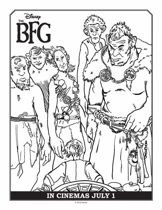 Coloriage et dessins gratuits Le bon gros géant entouré d'autres géants à imprimer