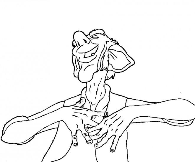 Coloriage et dessins gratuits Le bon gros géant entrain de rire à imprimer