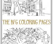 Coloriage et dessins gratuit Les aventures du  bon gros géant à imprimer