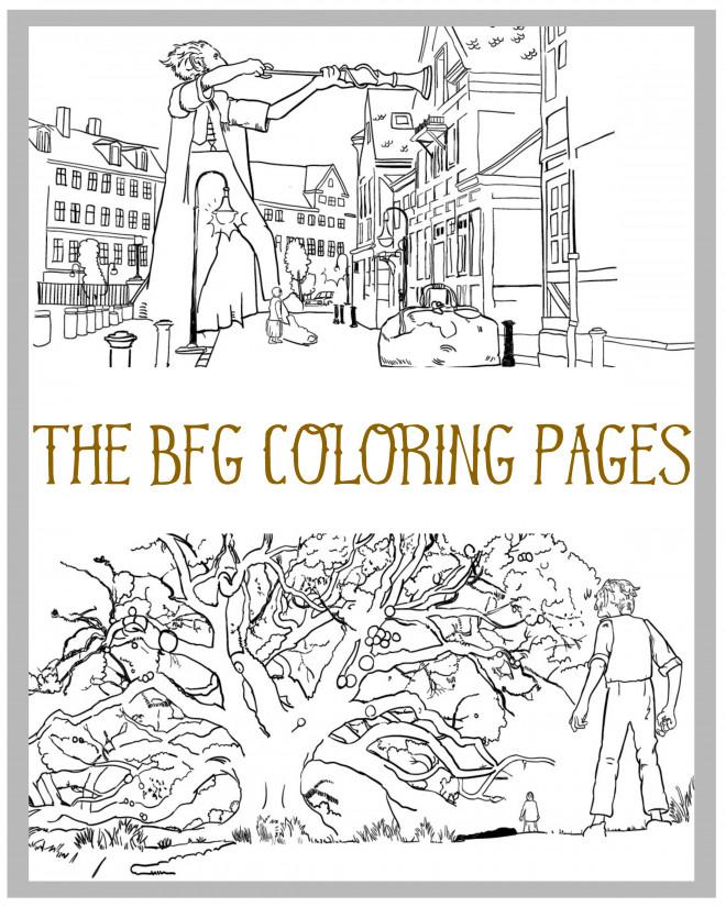 Coloriage et dessins gratuits Les aventures du  bon gros géant à imprimer