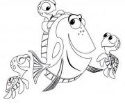 Coloriage Dory et ses amis