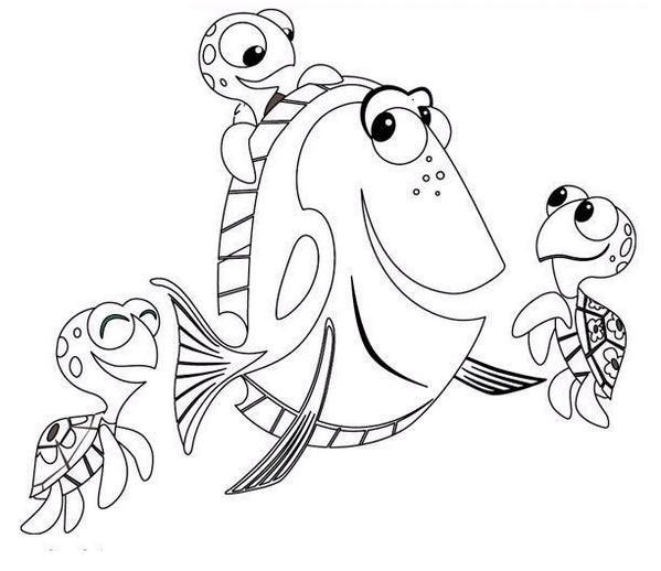 Coloriage et dessins gratuits Dory et ses amis à imprimer