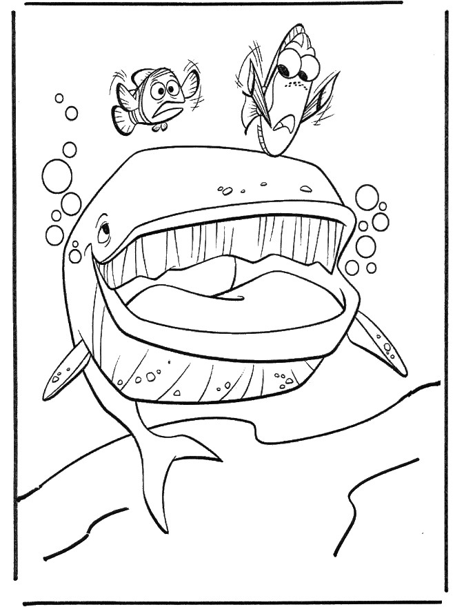 Coloriage et dessins gratuits Nemo et Marin à la recherche de Doris à imprimer