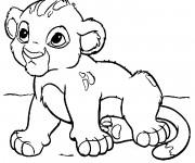 Coloriage dessin  Bébé Simba