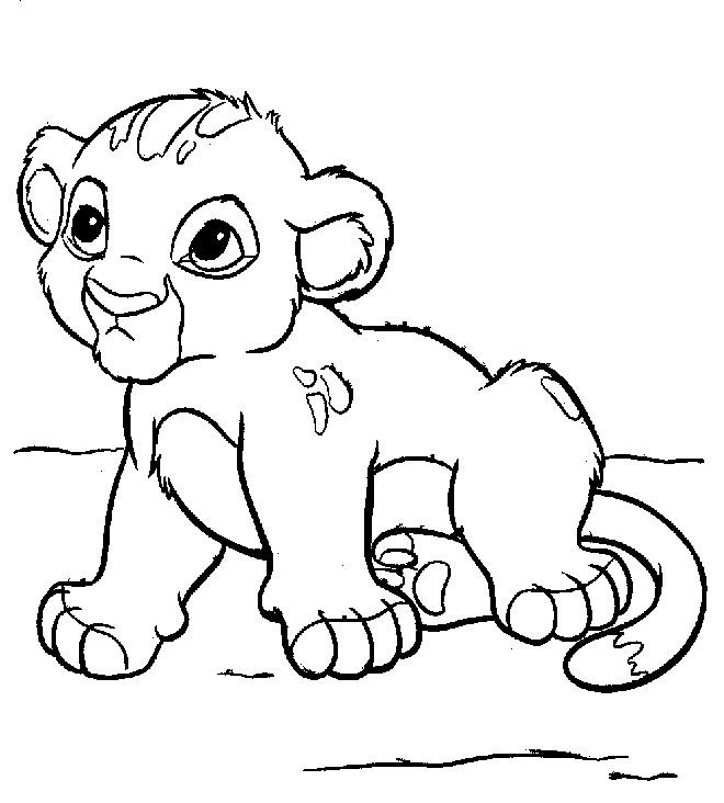 Coloriage et dessins gratuits Bébé Simba à imprimer