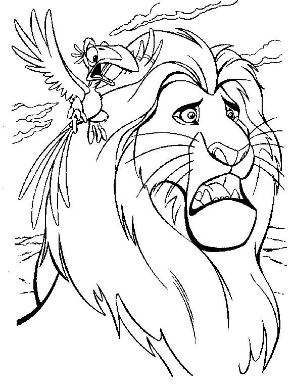 Coloriage et dessins gratuits Le Roi Lion à imprimer