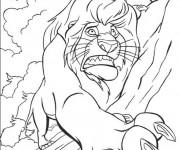 Coloriage Le roi lion et la mort de Mufasa