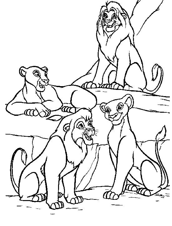 Coloriage Le Roi Lion Et Nala Dessin Gratuit à Imprimer