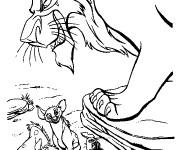 Coloriage Scar et les hyènes