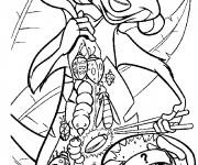 Coloriage Timon mange des insectes