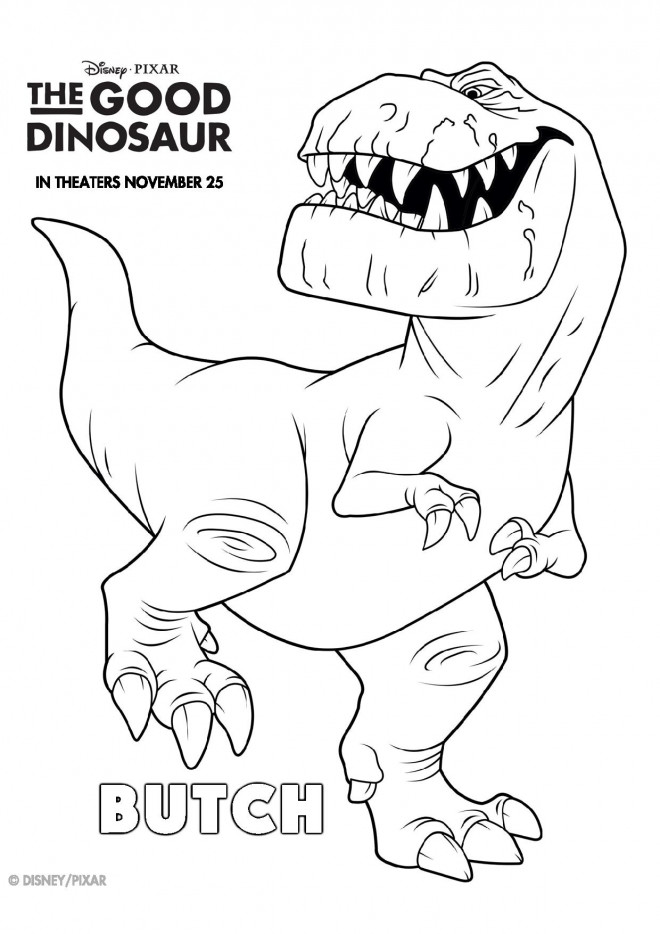 Coloriage et dessins gratuits Butch dans le bon dinosaure à imprimer