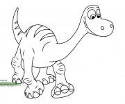 Coloriage dessin  Le bon dinosaure 1
