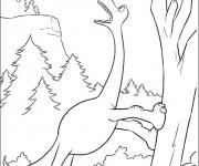 Coloriage dessin  Le bon dinosaure 11