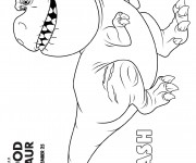Coloriage dessin  Le bon dinosaure 12