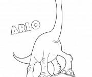 Coloriage et dessins gratuit Le bon dinosaure Arlo à imprimer