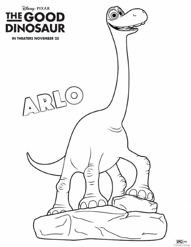 Coloriage et dessins gratuits Le bon dinosaure Arlo à imprimer