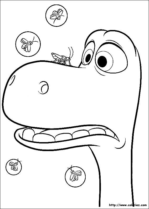Coloriage et dessins gratuits Le bon dinosaure Arlo a peur à imprimer