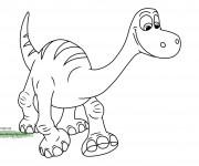 Coloriage et dessins gratuit Le bon dinosaure Disney à imprimer