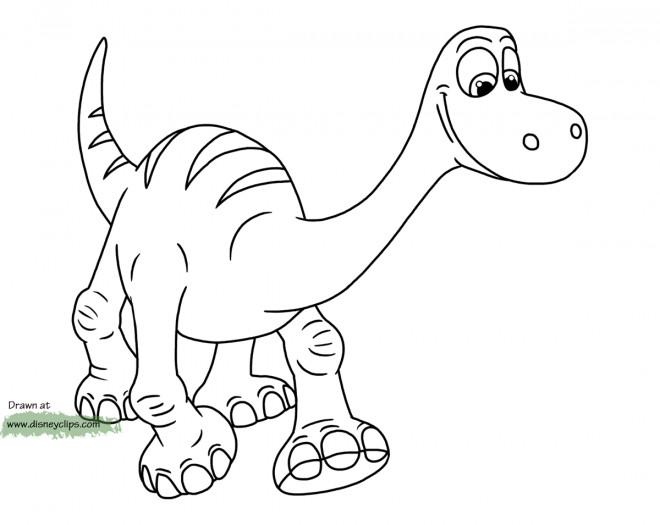Coloriage et dessins gratuits Le bon dinosaure Disney à imprimer
