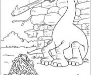Coloriage Le bon dinosaure en couleur