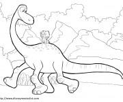 Coloriage dessin  Le bon dinosaure et Spot