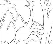 Coloriage Le bon dinosaure humoristique