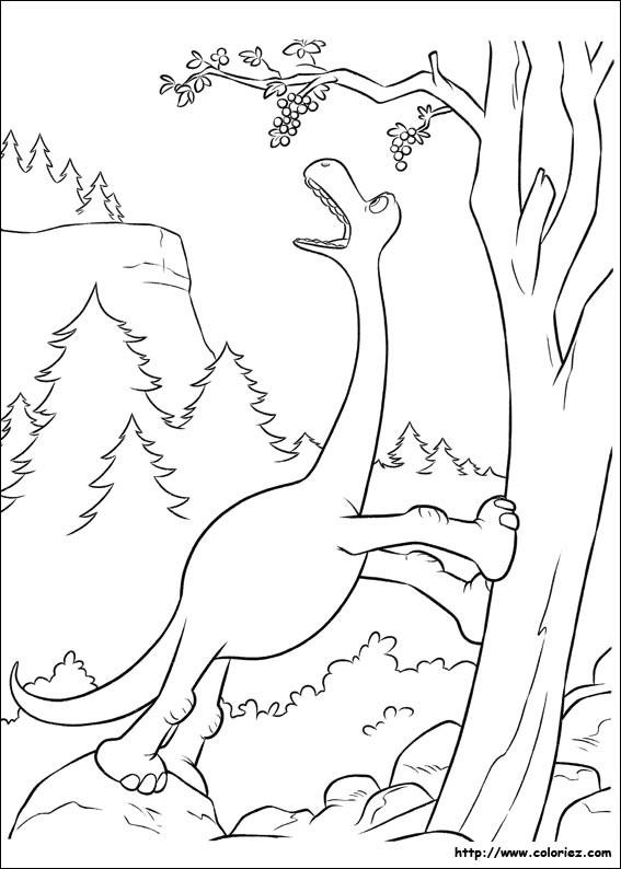 Coloriage et dessins gratuits Le bon dinosaure humoristique à imprimer