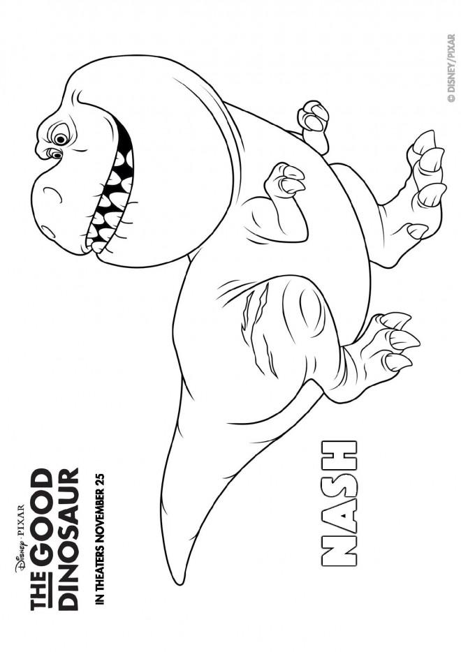 Coloriage et dessins gratuits Le bon dinosaure Nash à imprimer