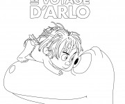 Coloriage dessin  Le voyage d'Arlo