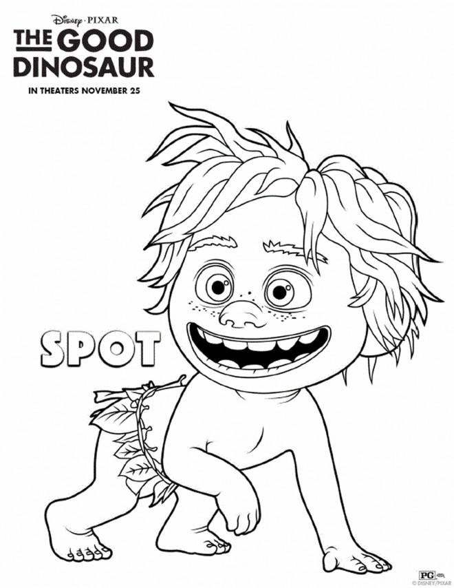 Coloriage et dessins gratuits Spot dans le bon dinosaure à imprimer