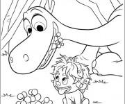 Coloriage et dessins gratuit Spot trouve des fruits pour Arlo à imprimer
