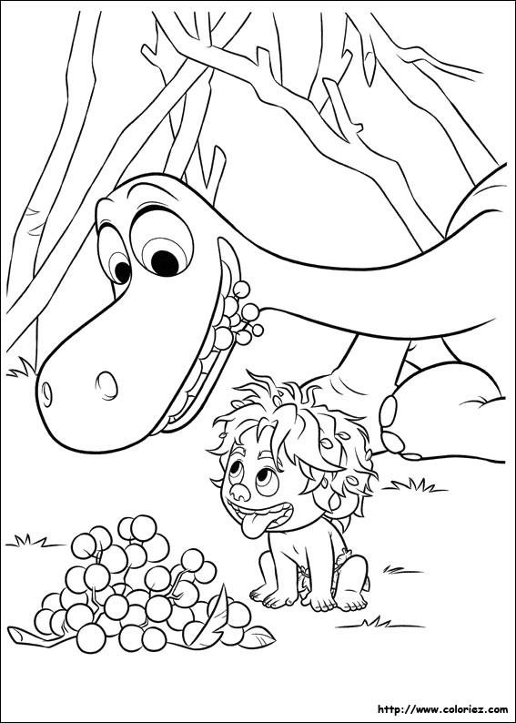 Coloriage et dessins gratuits Spot trouve des fruits pour Arlo à imprimer