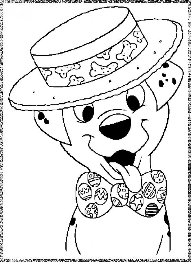 Coloriage et dessins gratuits Freckle porte une cravate et un chapeau à imprimer