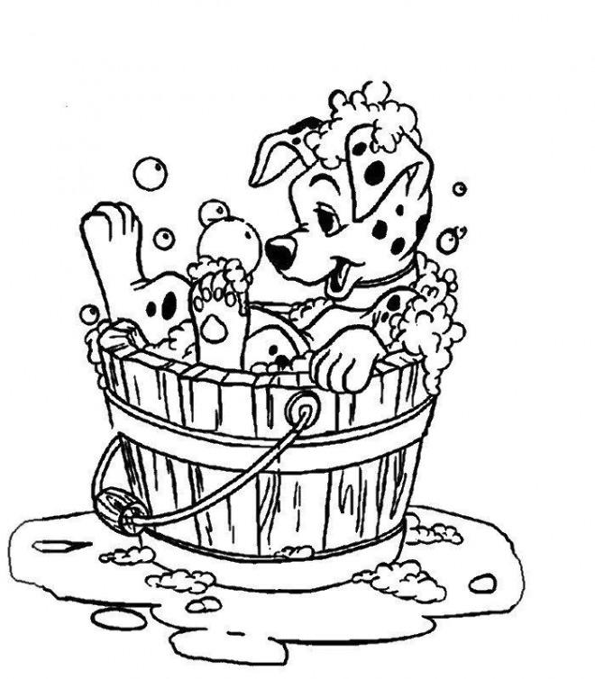 Coloriage freckles en douche dessin gratuit imprimer - Coloriage dalmatien ...